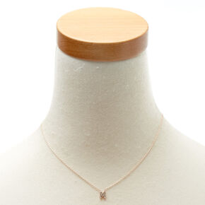 "Rose Gold-Tone ""M"" Initial Pendant Necklace,"