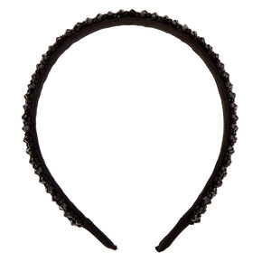 Faceted Bead Headband - Black,
