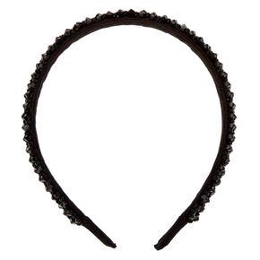 Faceted Bead Headband - Black,