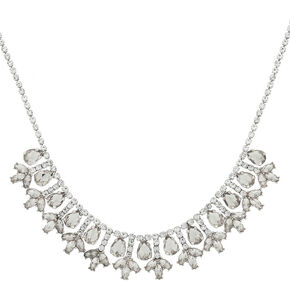 Silver Elegant Statement Necklace,