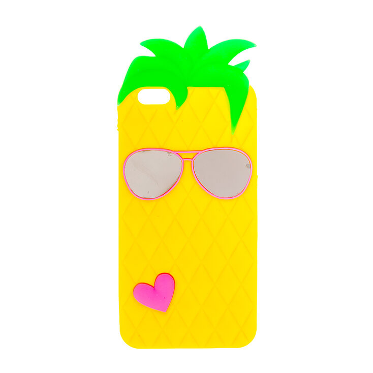 Silicone Pineapple Phone Case - Fits iPhone 6/6S Plus,