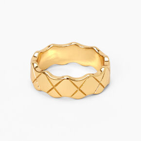 18kt Gold Plated Textured Ring,