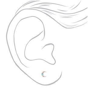 Silver Western Boho Stud Earrings - 20 Pack,