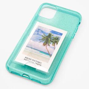 Mint Glitter Instax Mini Pocket Protective Phone Case - Fits iPhone 11,