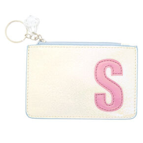 Pearlescent Initial Coin Purse - S,