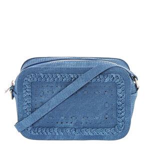 Braided Denim Crossbody Camera Bag,