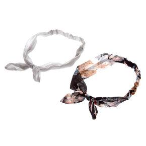 Chiffon Floral Bow Headwraps,