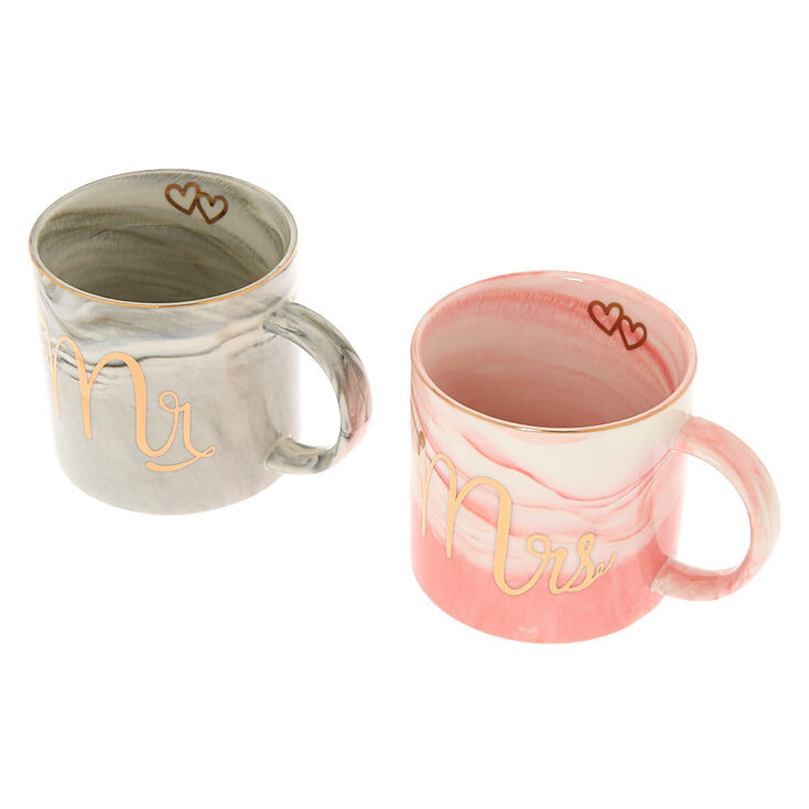 Marble Mr. and Mrs. Mug Set - 2 Pack,