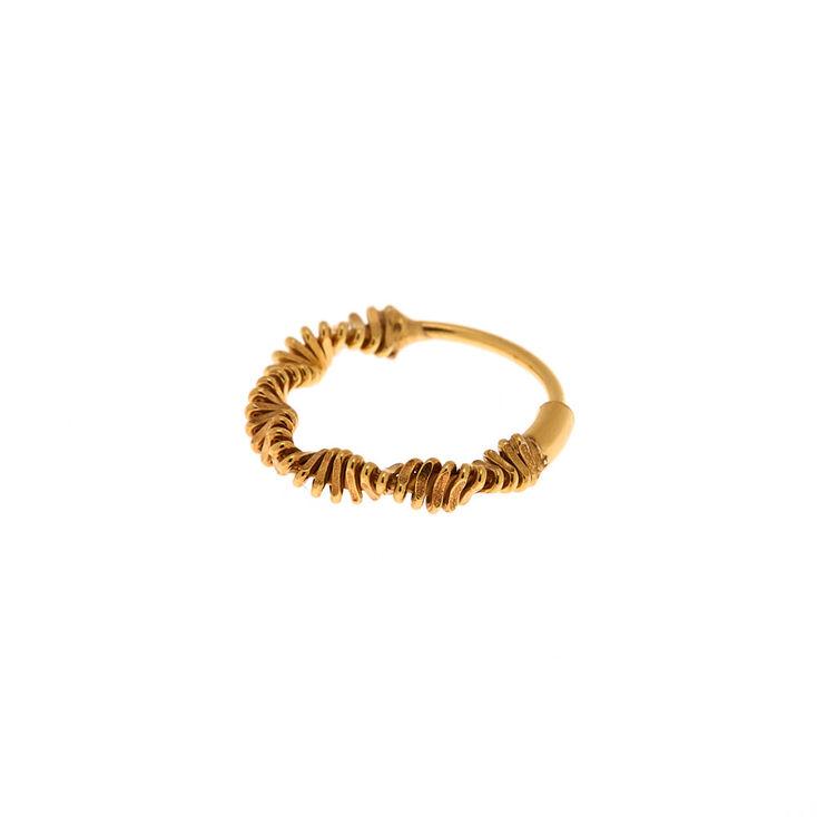 Gold Sterling Silver Slinky Hoop Nose Earring,