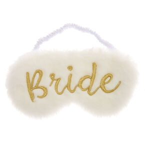 Plush Bride Sleeping Mask - White,