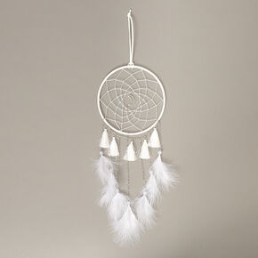 Moon Tassel Dreamcatcher - White,