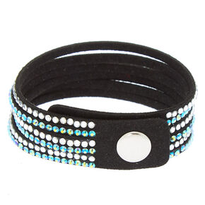 Studded Layered Wrap Bracelet - Teal,