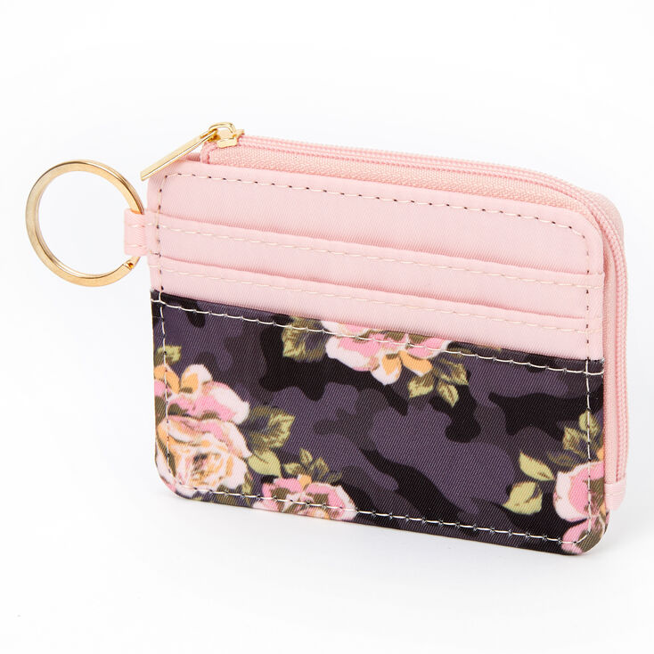 Camo and Floral Coin Purse - Pink,