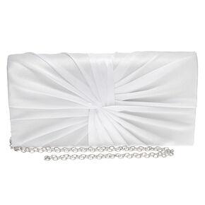 Twisted Bridal Clutch Purse - White,