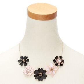 Mixed Bouquet Statement Necklace - Black,