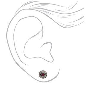 Hematite Stud Earrings - 6 Pack,