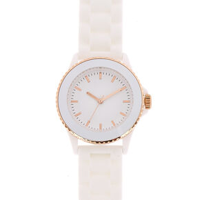 White Rubber Watch,