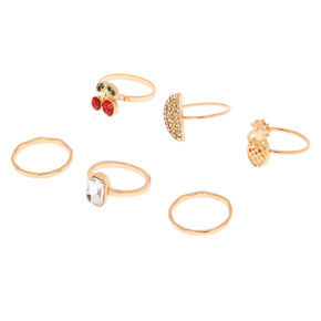 Gold Fruity Rings - 6 Pack,