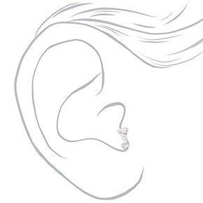 Cubic Zirconia 16G Heart Drop Tragus Earring,