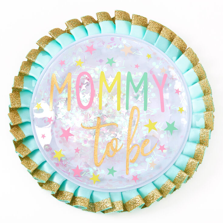 Mommy To Be Twinkle Star Button - Mint,
