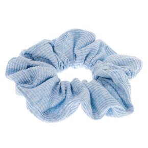 Ribbed Hair Scrunchie - Dusty Blue,