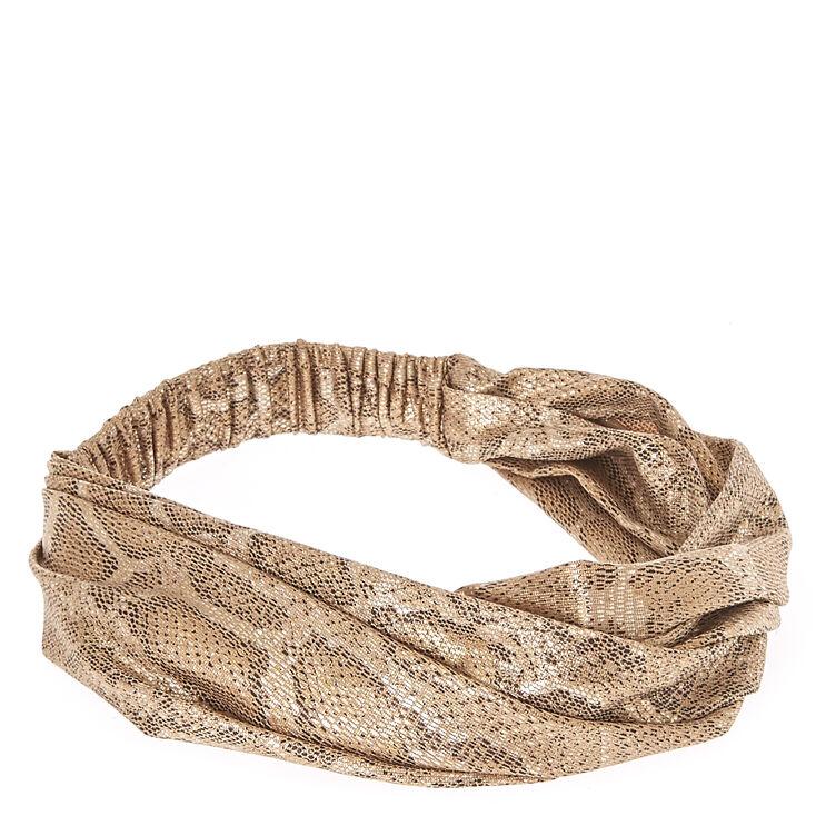 Metallic Gold Snakeskin Headwrap,