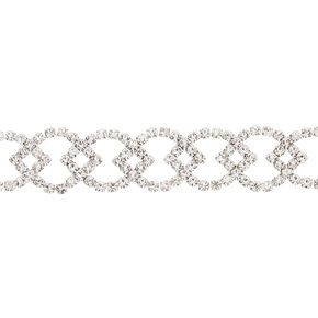 Silver Rhinestone Citrus Choker Necklace,