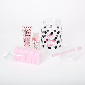 Best Mom Ever Mason Jar Tumbler Bath Set,