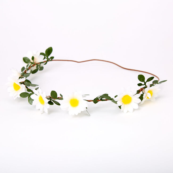 Vintage Hair Accessories: Combs, Headbands, Flowers, Scarf, Wigs Icing Daisy Vine Headwrap $12.99 AT vintagedancer.com