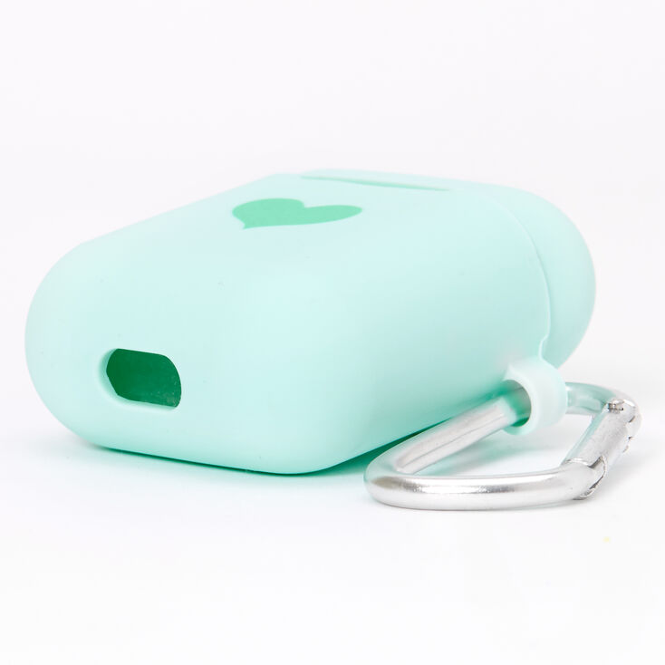 Mint Heart Silicone Earbud Case Cover - Compatible With Apple AirPods,