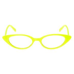 Cat Eye Clear Lens Frames - Yellow,