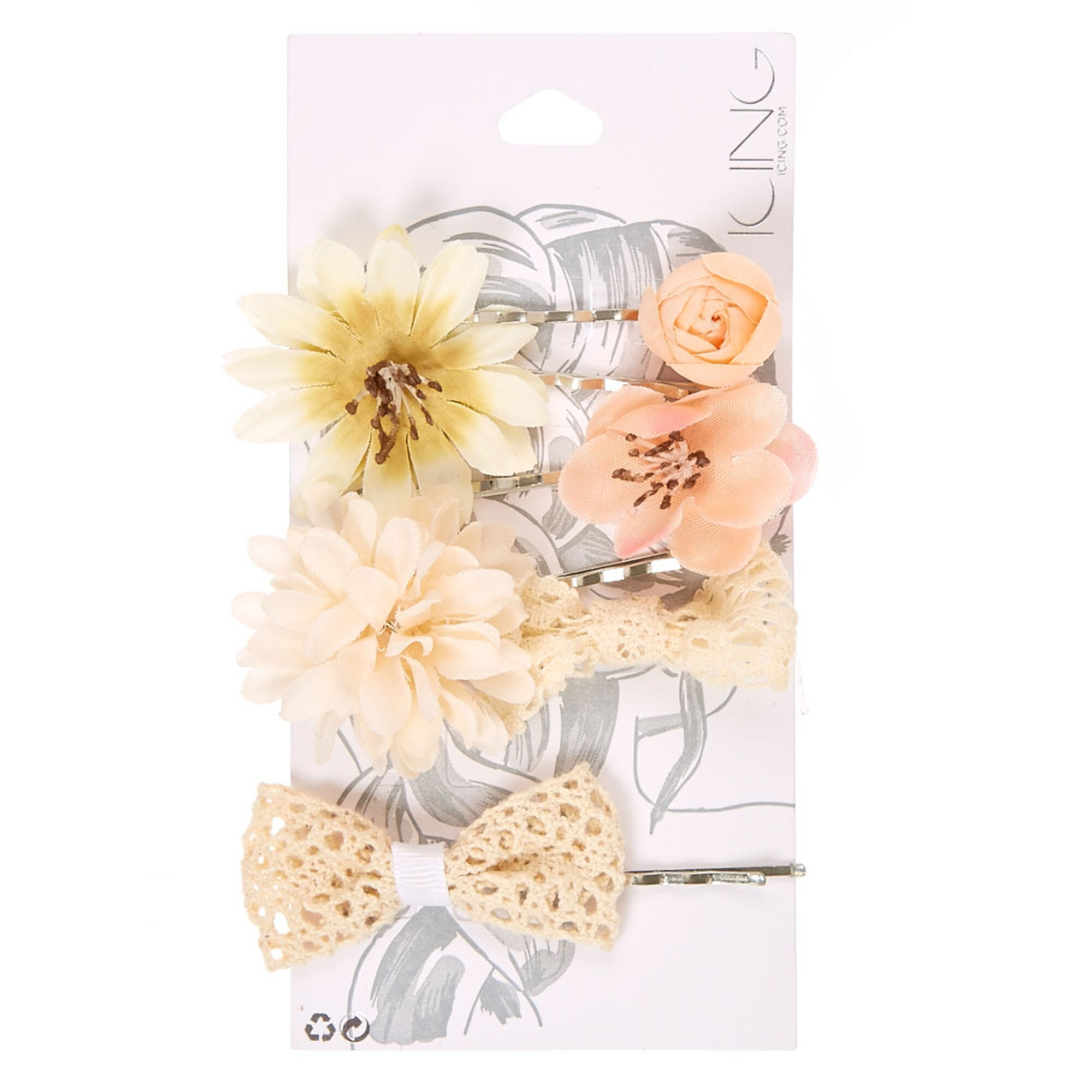 6 Pack Flower Child Hair Pins Icing Us