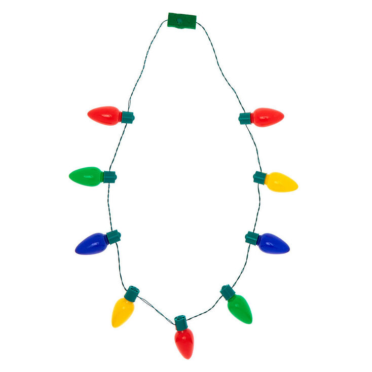 Light Up Christmas Lights Necklace,