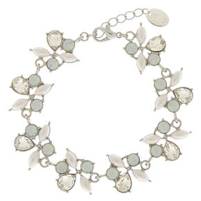Silver Mermaid Pearl Statement Bracelet,