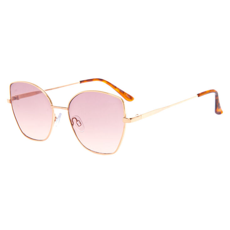 Square Cat Eye Sunglasses - Brown,