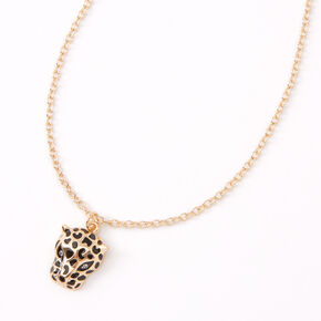 Gold Leopard Pendant Necklace,