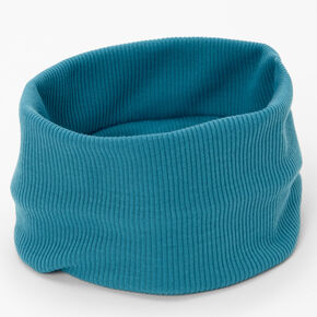 Flat Ribbed Headwrap - Teal,