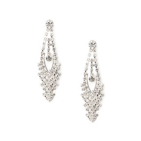 Cascading Crystal Drop Earrings,