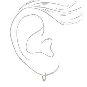 Rose Gold 10MM Sandblasted Hoop Earrings,