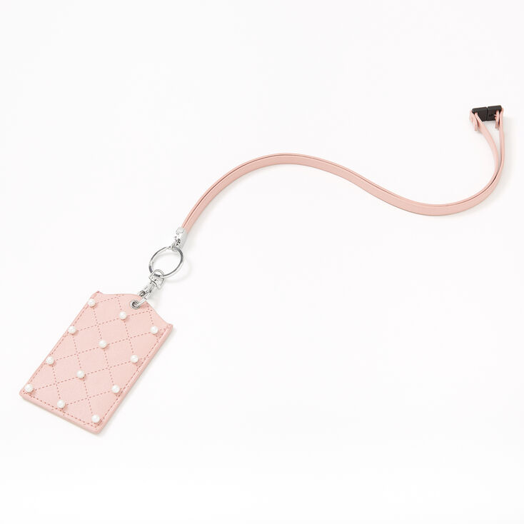 Quilted Pearl Lanyard - Pink,