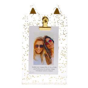 Glitter Cat Ear Instax Photo Holder - Gold,