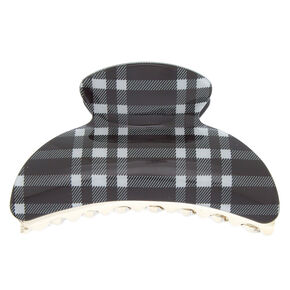 Checkered Hair Claw - Black,