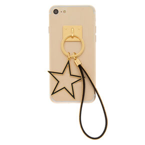 Star Charm Phone Wrist Strap - Gold,