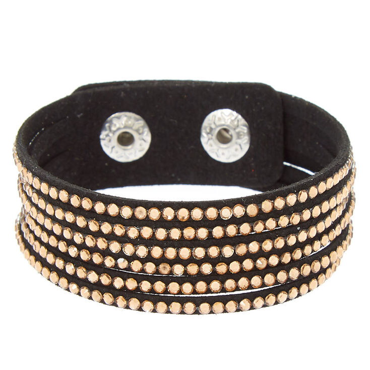 Studded Layered Wrap Bracelet - Copper,
