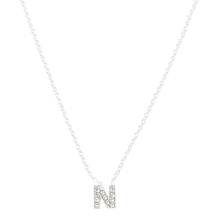 N Pendant Necklace,