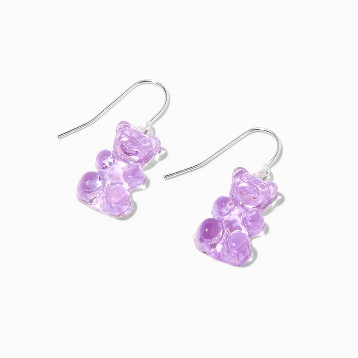 40MM Silver Tone Faux Pearl Trio Hoop Earrings,