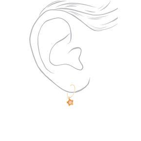Gold Studs & Charm Hoop Earrings - 20 Pack,