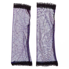 Spiderweb Arm Warmers - Black,