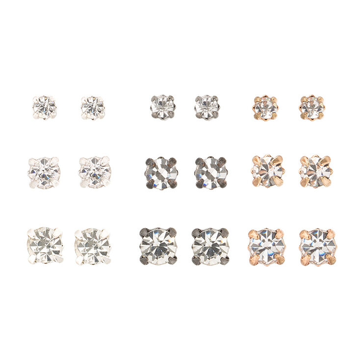 Simple Stud Earrings Set,