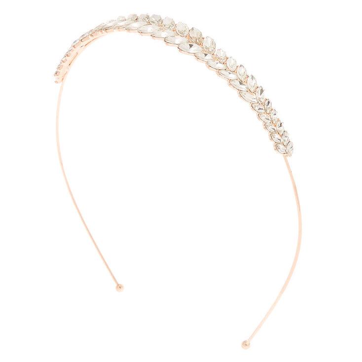 Rose Gold Rhinestone Caesar Headband,